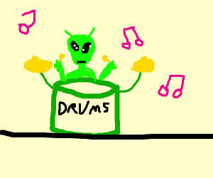 Drums from an Alien Planet