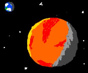 Earth is Mars's moon