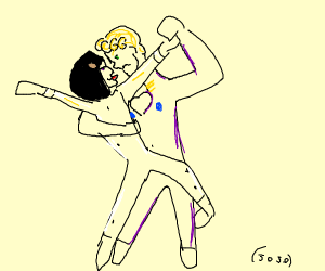 bruno and giorno (jojo) dancing