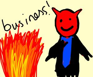 Satan is a businessman?