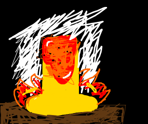 Lava with a candle
