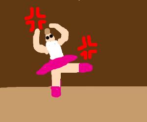 Angry ballerina