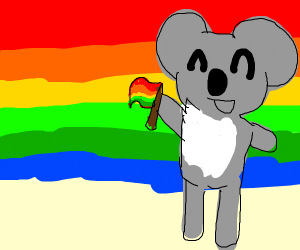 Pride Flag's Fursona is Koala