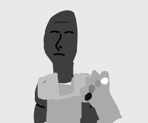 Black and white Thanos