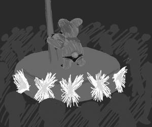 Pole dancing/stripper koala
