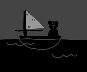 Bear is in a ship