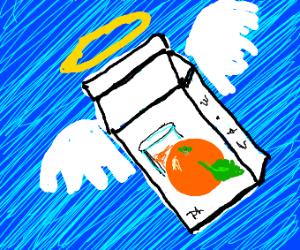 Angelic orange juice