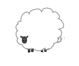 Sheep's wool is bigger than the sheep itself