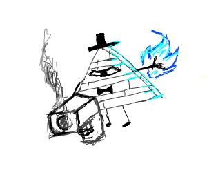 After all these years, Bill Cipher has a gun!