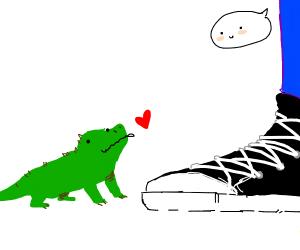 smol lizard loves u