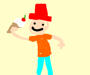 Toddler wearing a red hat