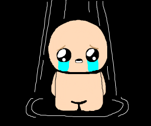 The binding of Isaac crying