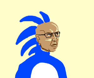 Sanic but he's RuPaul