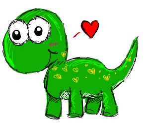 Happy little dinosaur