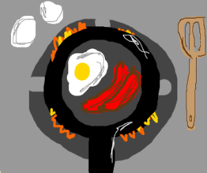 eggs and sausage