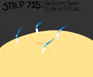Step 724: Gather up exploded belly button