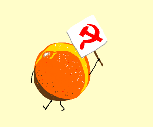 An Orange supports Communism