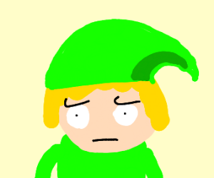 Toon link is not amused