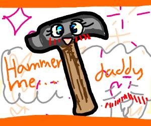 "Anime nosebleeding hammar ""hammar me daddy"""
