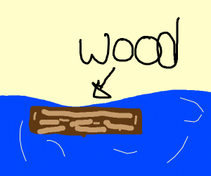 floating plank of wood