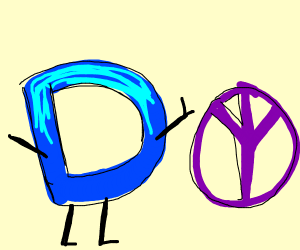 Drawception next to peace symbol