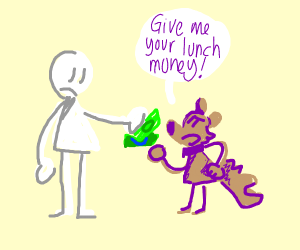 puppy takes lunch money