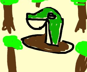 Snivy sinking in mud