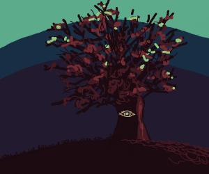 Abandoned spiritual tree