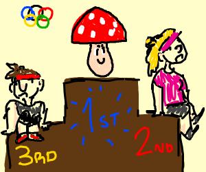 mushroom wins entire olympics