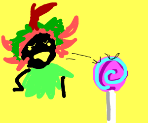 Skull kid and lollypopkid in staring contest