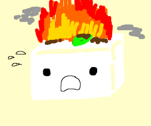 Burning tofu