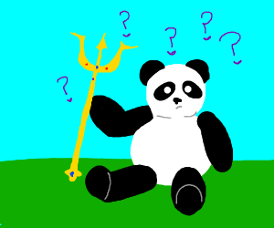 panda doesn't know what a trident is