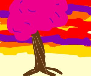 A pink tree