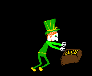 a leprechaun find a box of gold