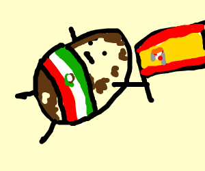 Mexican Potato with a Spain flag