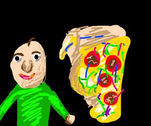 Baldi with Pizza