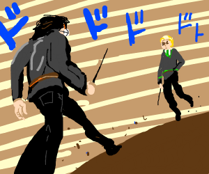 Draco vs Harry wizarding duel