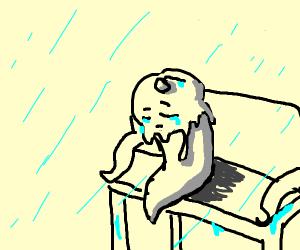 ice cream cries in the rain