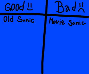 Old Sonic and Movie Sonic