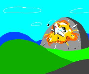 plane crashed on big rock
