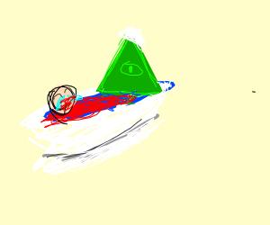 Illuminati pope in bloody tub w crying boy