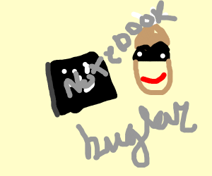Notebook Burglar