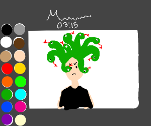 Medusa in a drawception panel
