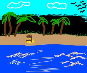 Gold Nugget on a Beach