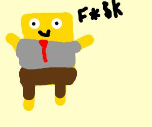 Spongebob Punches Beans Drawception