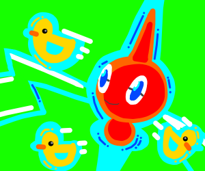 Rotom giving out ducks