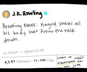 jk Rowling makes unnecessary tweet