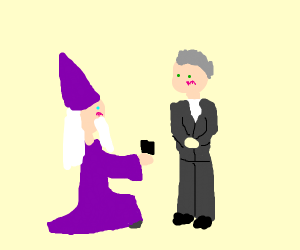 dumbledoor proposes to someone