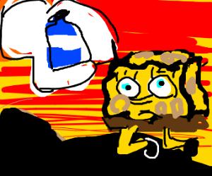 spongbob needs water