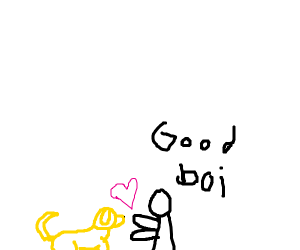 Golden Retriever loves you